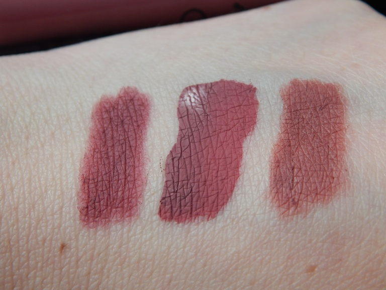 Kylie Cosmetics Posie K MAC In Control Swatches