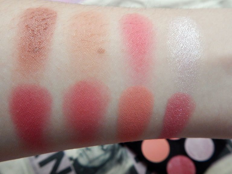 Makeup Revolution Sugar and Spice Ultimate Blush Palette Swatches