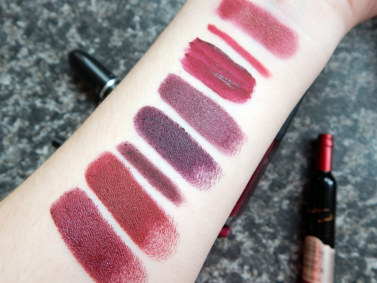 burgundy-purple-lipstick-swatches-1